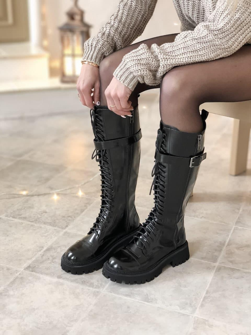 Черевики жіночі Balenciaga Tractor масло-шкіра