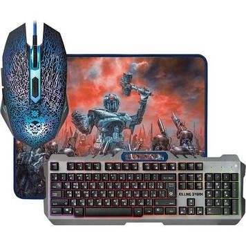 Набір ігровий Defender KillingStorm MKP-013L клавіатура+мишка+килимок