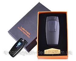 Зажигалка USB 2 молнии/Сенсорная кнопка/Индикатор зарядки/Герб Black HL-105