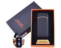 Зажигалка USB 2 молнии/Сенсорная кнопка/Тигр Black HL-58