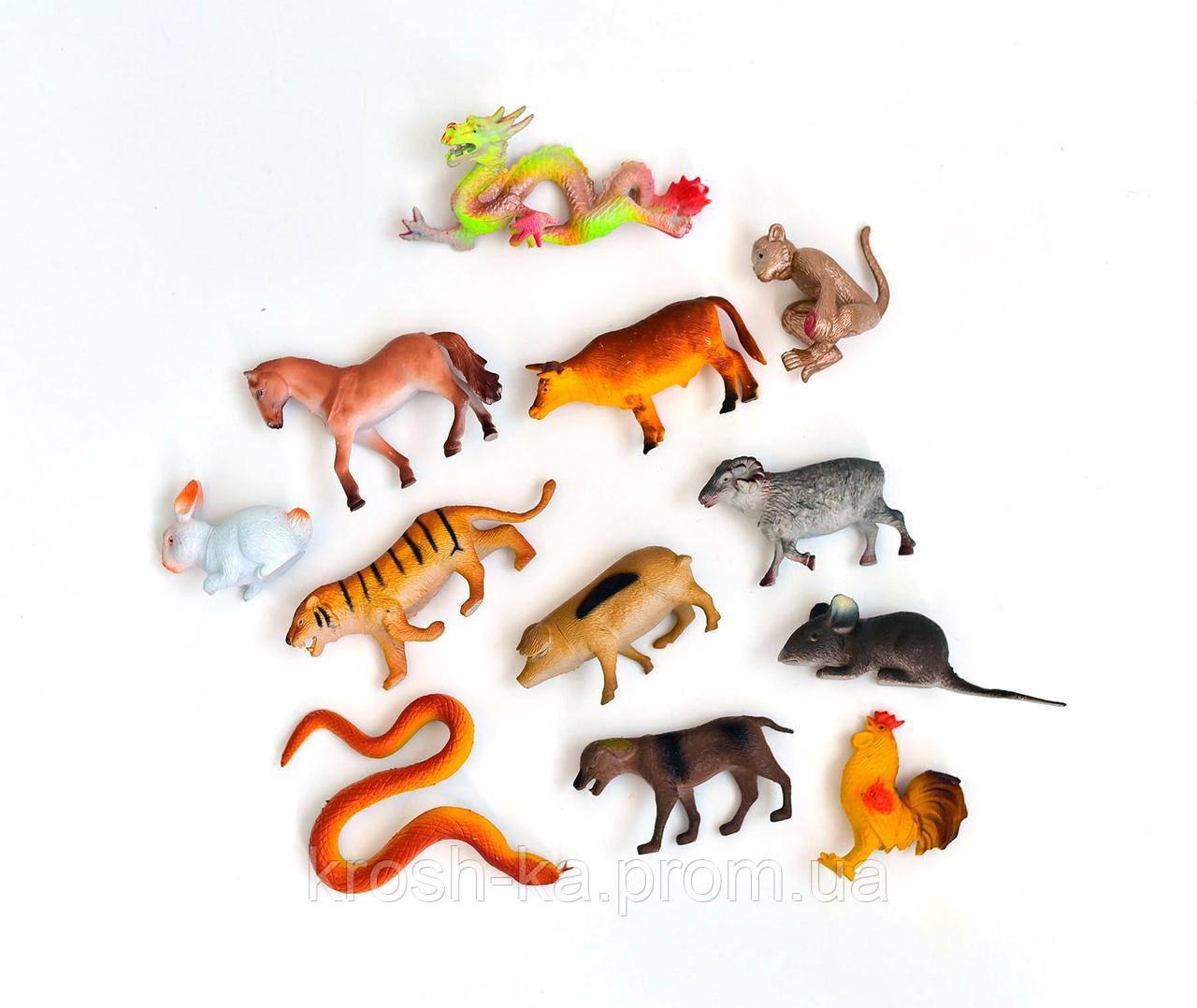 Фигуры животных Farm set набор 12шт Китай H642