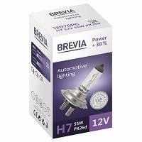 """Лампа 12V H7  55W + 30% """"Brevia"""" (1шт)  (12070PC) (10шт/уп)"""