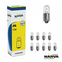"Лампа 12V  (цок.BA 9s) T2W  ""Narva"" (17053)   (уп.10шт)"