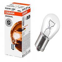 """Лампа 12V  (цок.BА15s) P21W """"Osram""""  (7506)   (уп.10шт) Акция (красная уп)"""