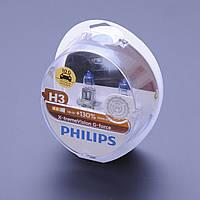 "Лампа 12V H3  55W +130% X-treme Vision G-Force ""Philips"" (Box-2шт)  (12336XVGS2) АКЦИЯ"