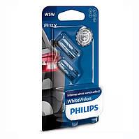 "Лампа 12V  (бесцок.) W5W ""Philips"" (12961WVUB2) White Vision Ultra +60% (3300K) (2шт.блист.)"
