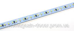 Стрічка алюміній 12V - 50см - Біла - (4014) - 2А 72LED в силіконі - ефект суцільної стрічки