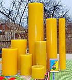 Цилиндрическая восковая свеча D28-220мм из натурального пчелиного воска, фото 4