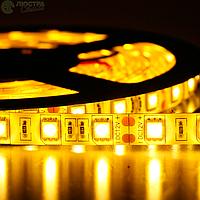 """Лента Диодная 12v 15см желтая SMD (5050) гибкая / полиуретан покрытие """"Econom"""""""