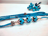 Коллекционная выставочная ринговка для собак голубая Blue Light от Pets Couturier SIMBA, фото 2