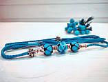 Коллекционная выставочная ринговка для собак голубая Blue Light от Pets Couturier SIMBA, фото 5