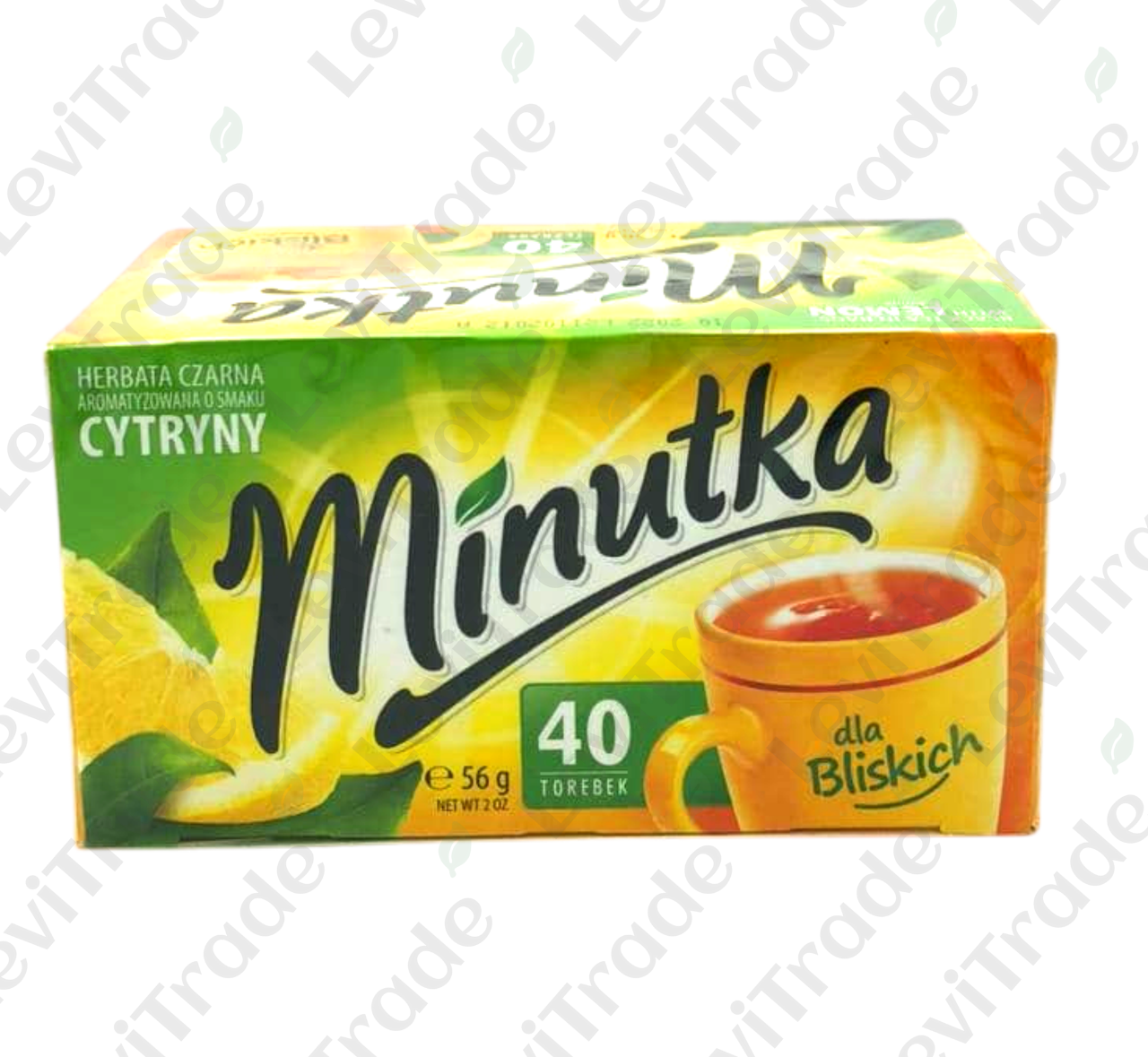 Чай чорний Minutka зі смаком лимона, 56г (40пак.), 12шт/ящ