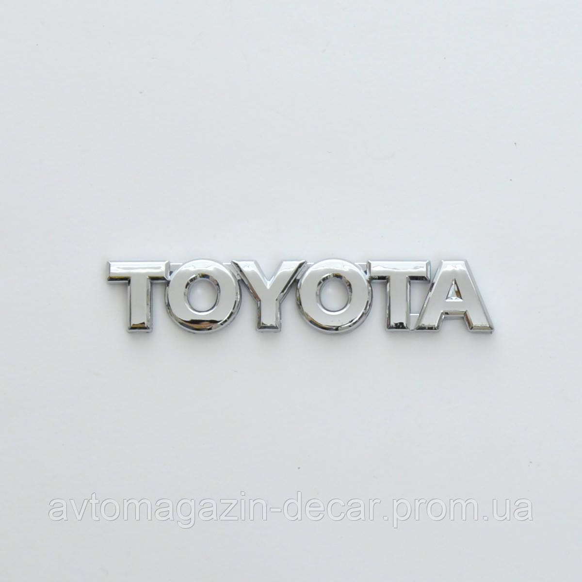 """Эмблема - надпись  """"TOYOTA"""" скотч 92х17 мм (5714JP)"""