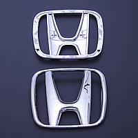 "Эмблема  ""Honda""Accord03-07/CRV05-07 перед пластик/скотч 3М/2 пукли 123х103мм(Польша)OEM75700-S9A"