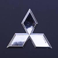 """Эмблема  """"Mitsubishi""""  80*70мм\пластик\хром\скотч"""