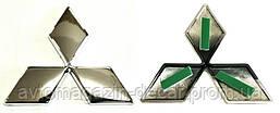 """Эмблема  """"Mitsubishi""""  87х78мм\пластик\хром (средняя)"""