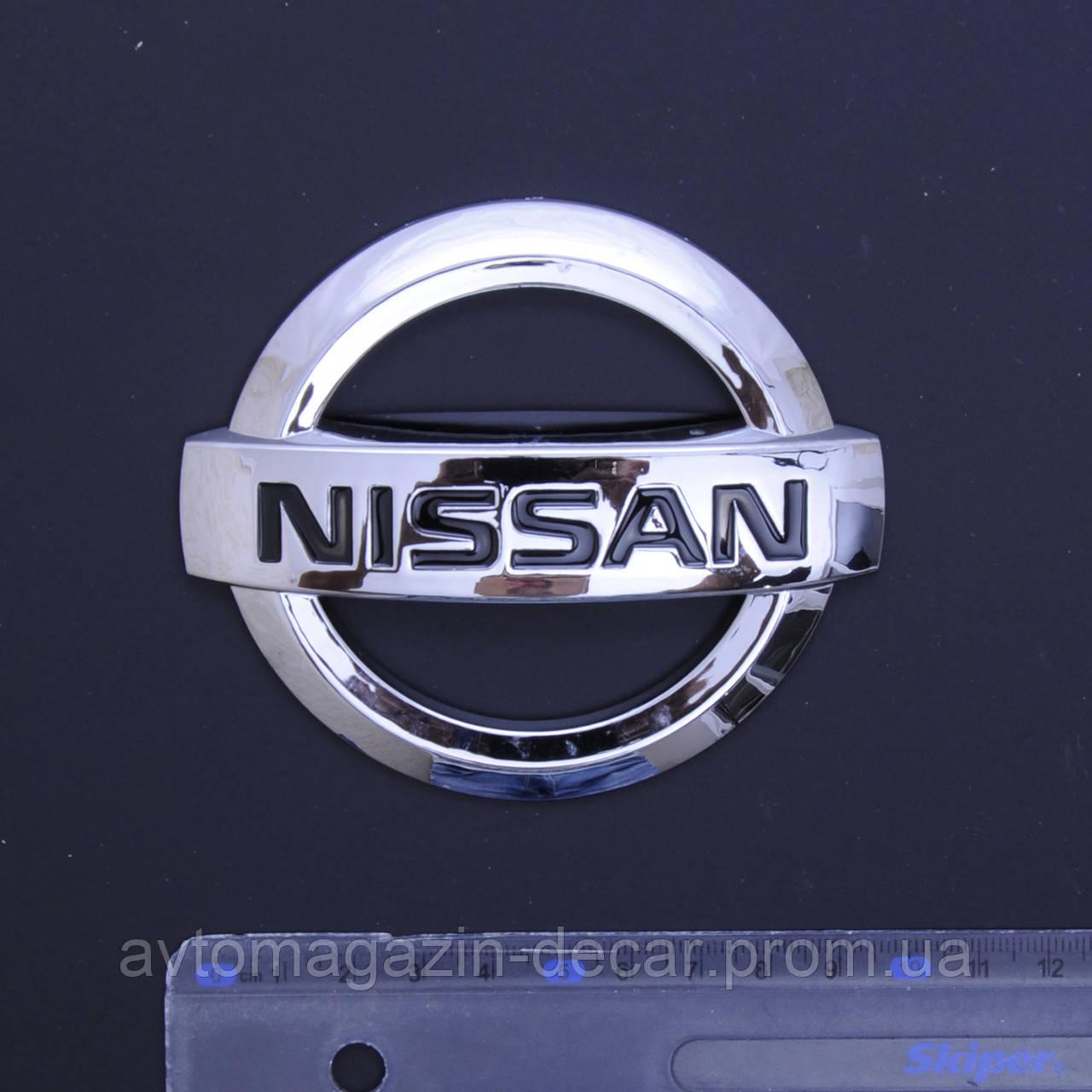 "Эмблема  ""Nissan"" 100х85мм\пластик\скотч 3М (Qashqai) зад (Польша)"