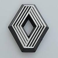 """Эмблема  """"Renault"""" 25-21пластик/2 пукли/с полосками/средняя 63х77мм"""