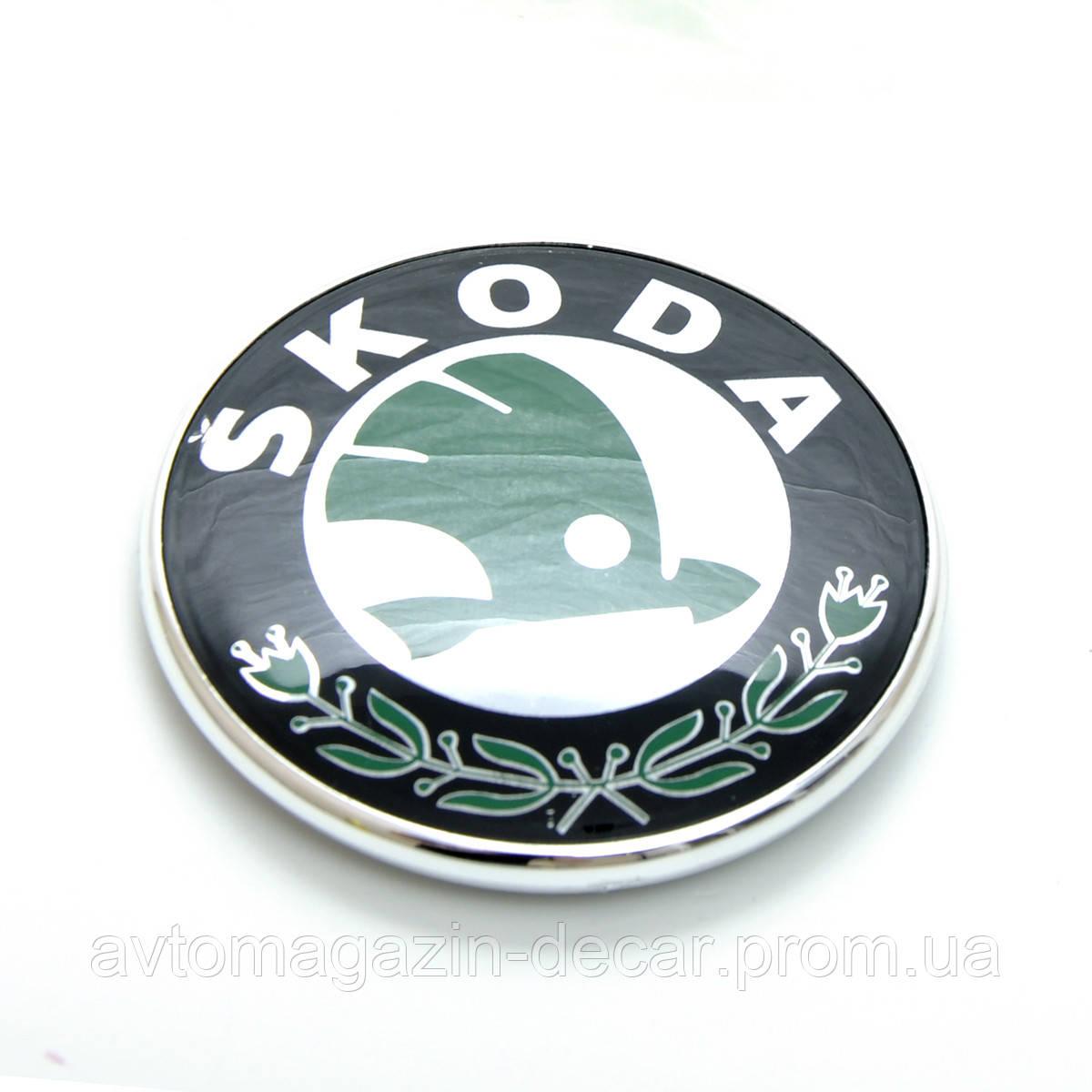"Эмблема  ""Skoda""  72мм\пластик\скотч"