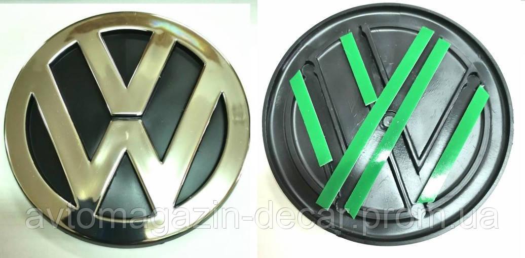 "Эмблема  ""WV""  80мм\пластик\защелки ( Polo Clasik,Golf III,Passat зад 98-02)"