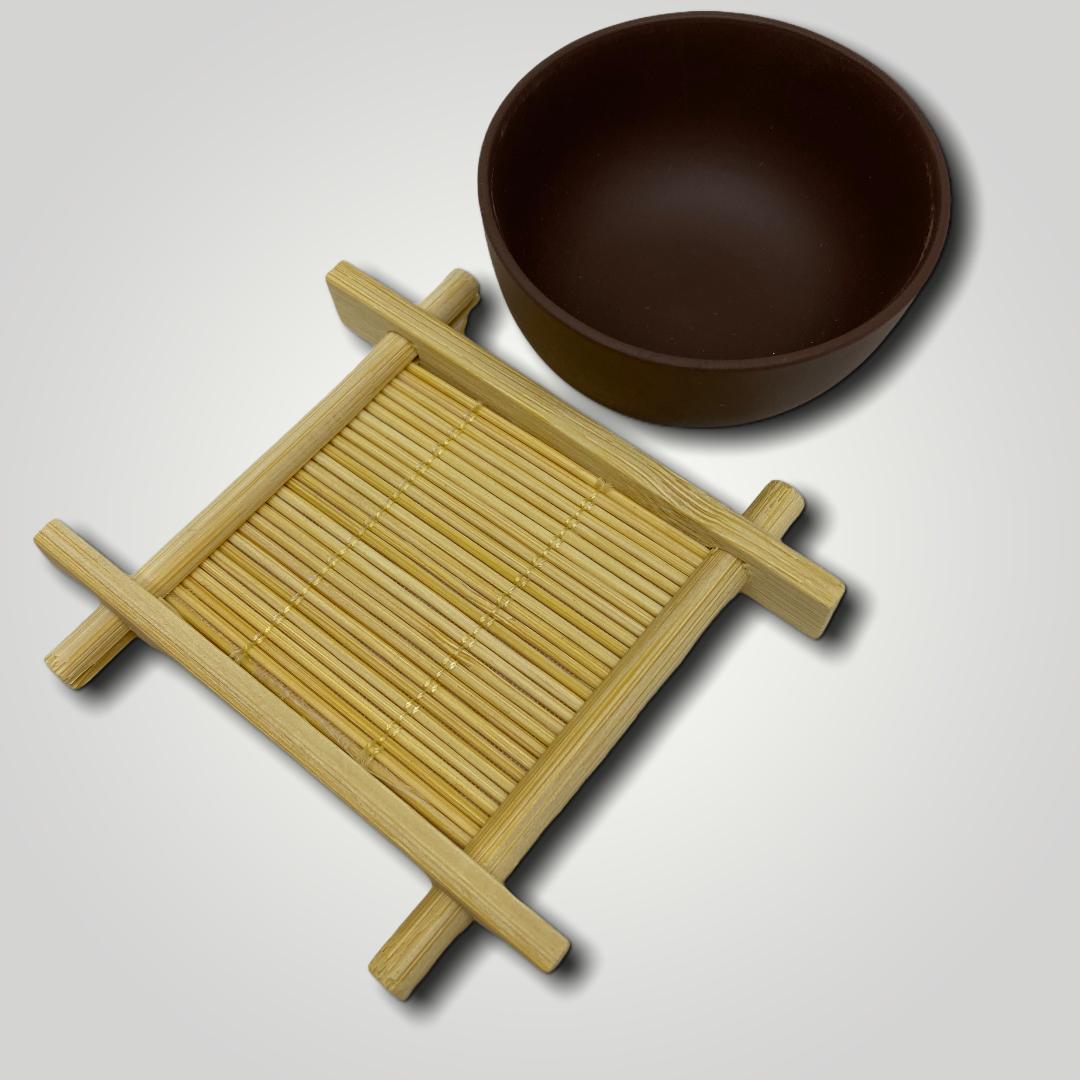 Оригинальная бамбуковая подставка под чайные пиалы
