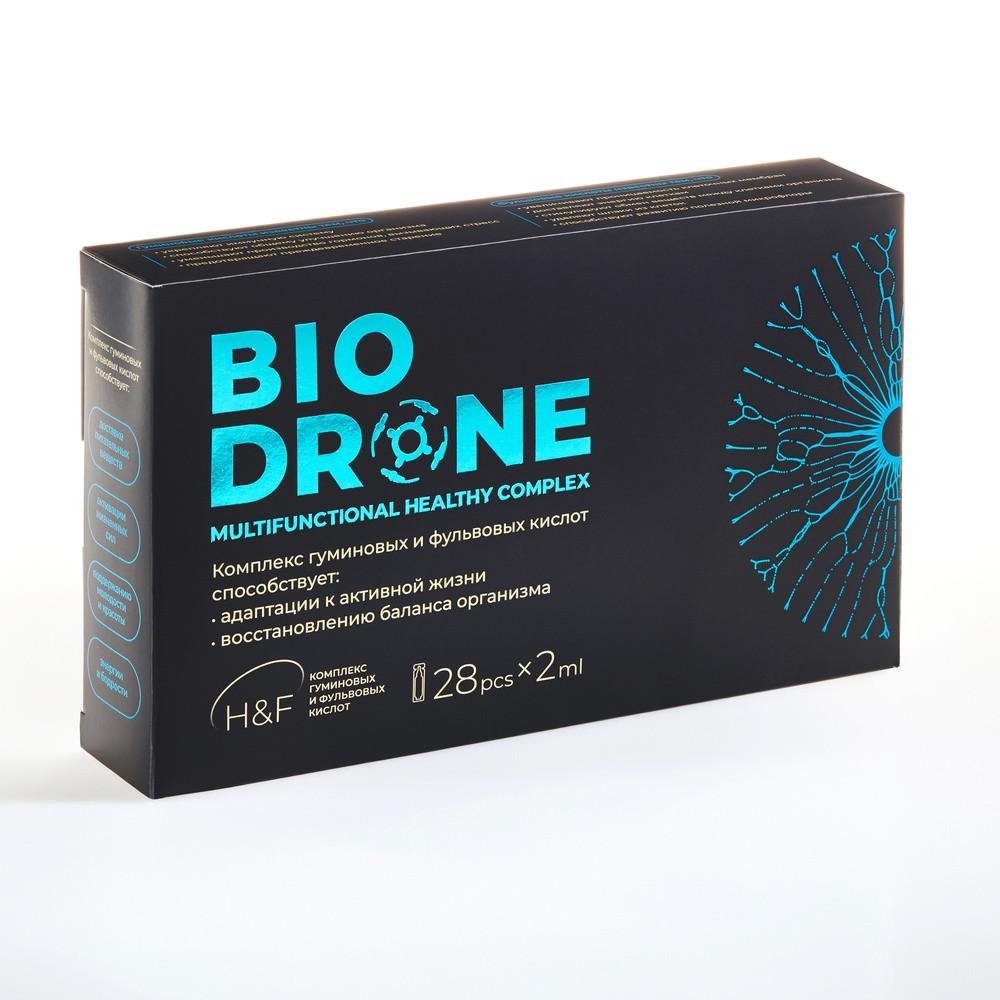 Иммуно укрепляющий  препарат BioDrone Комплекс гуминовых и фульвовых кислот ,56 мл  28 монодоз по 2 мл