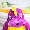 Кигуруми піжама дитяча фіолетовий Дракон цілісна комбінезон унісекс, фото 3