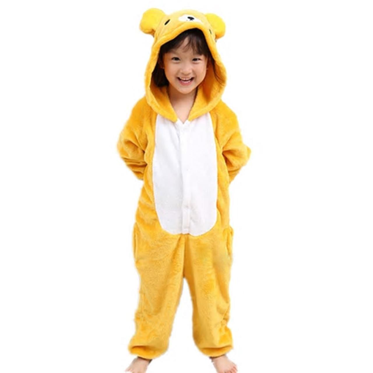 Кигуруми пижама детская Медведь цельная комбинезон для детей