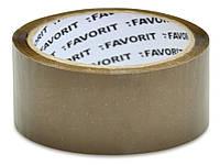 Лента клейкая 48мм/66м, коричневая FAVORIT