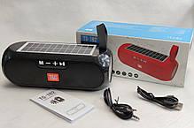 Портативная беспроводная bluetooth юсб колонка музыки блютуз акустика с солнечной батареей для телефона черная, фото 3