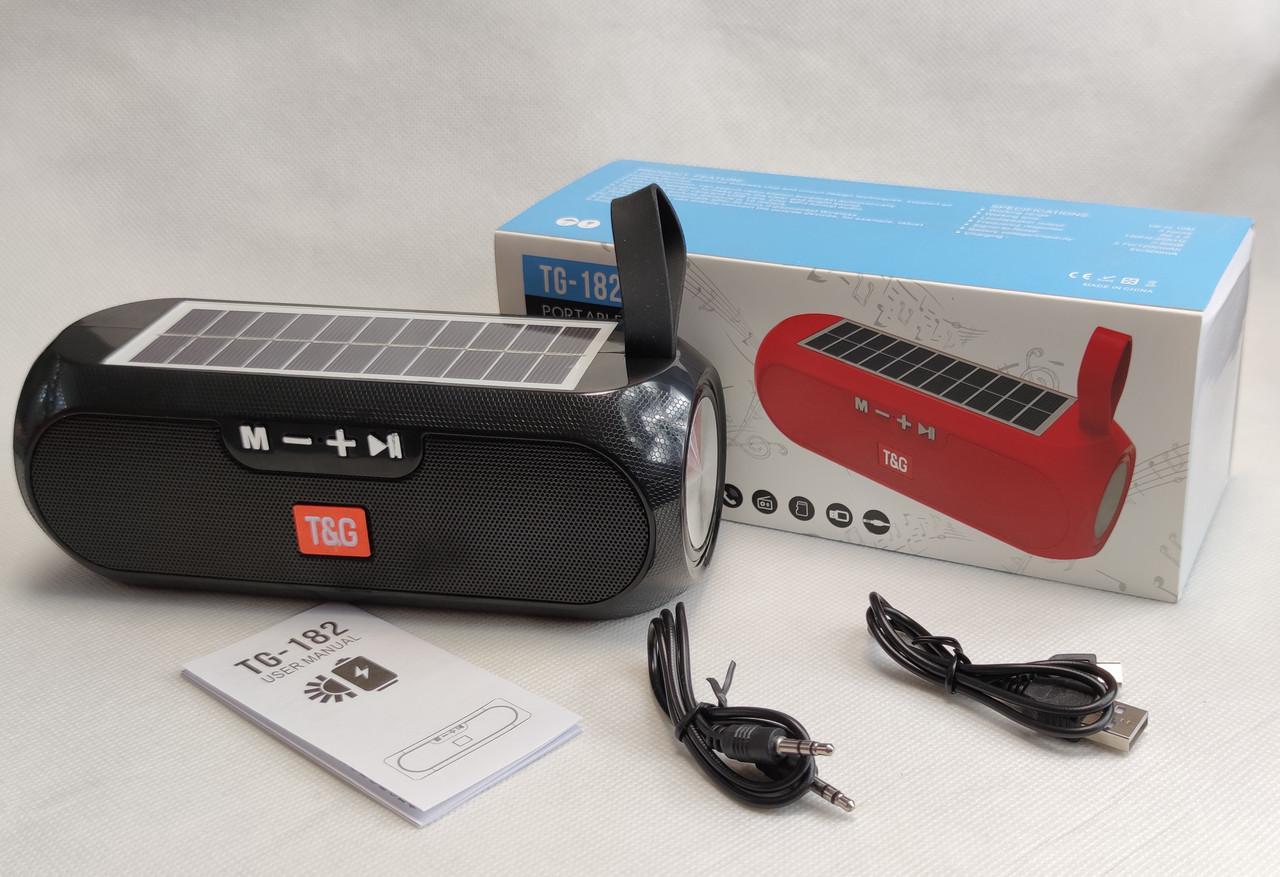 Портативная беспроводная bluetooth юсб колонка музыки блютуз акустика с солнечной батареей для телефона черная