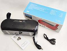 Портативная беспроводная bluetooth юсб колонка музыки блютуз акустика с солнечной батареей для телефона черная, фото 2