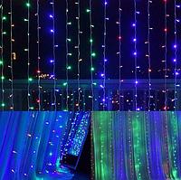 Гирлянда штора 120LED 1.5х1.5м RD-7176 | Новогодняя светодиодная уличная гирлянда