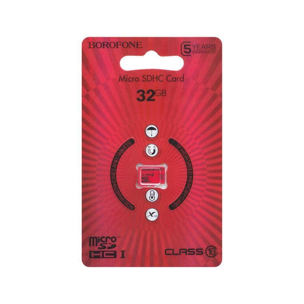 Карта памяти на 32 Гб для телефона  Borofone MicroSDHC 32gb 10 Class