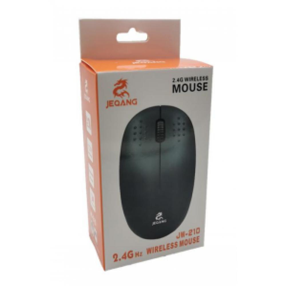 Беспроводная мышка оптическая черная Wireless JEQANG JW-210 (ЦУ-00030682)