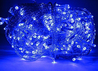 Гирлянда диод 300LED Синяя Белый провод RD-9033 | Новогодняя светодиодная бахрома