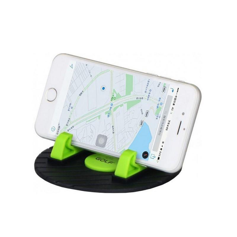 Автодержатель антискользящий коврик для телефона GOLF NON-SLIP черно-зеленый (GF-CH03)