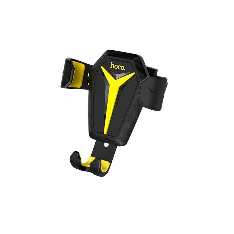 Автодержатель для телефона Hoco Kingcrab Vehicle черно-желтый (CA22BY)