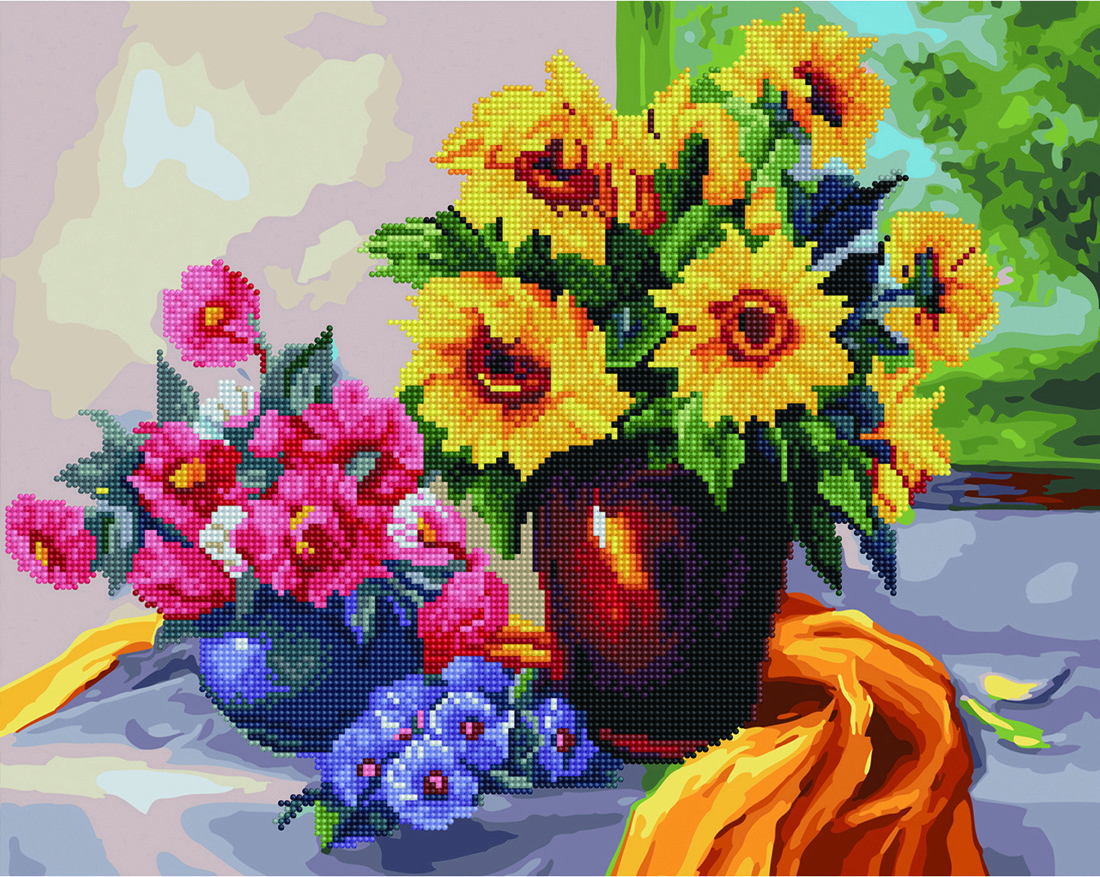 "Картина по номерам Brushme ""Цветочный натюрморт"""