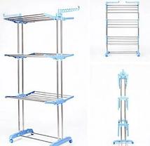 Стойка, вешалка сушилка для белья, для одежды Garment rack with wheels, фото 3