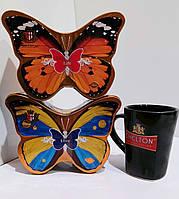 Чай подарочный Chelton Челтон Бабочка 100 г набор (2 банки) + чашка в подарок