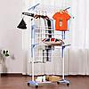 Стойка, вешалка сушилка для белья, для одежды Garment rack with wheels, фото 4