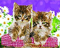 """Картина по номерам Brushme """"Котята в корзинке"""""""