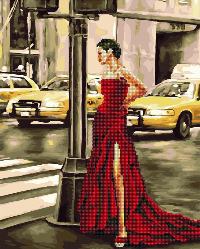 """Картина по номерам Brushme """"Девушка и желтое такси"""""""