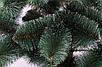 Сосна искусственная ПВХ зеленая с белыми кончиками 1.8м | Новогодняя пушистая елка сосна с инеем, фото 3
