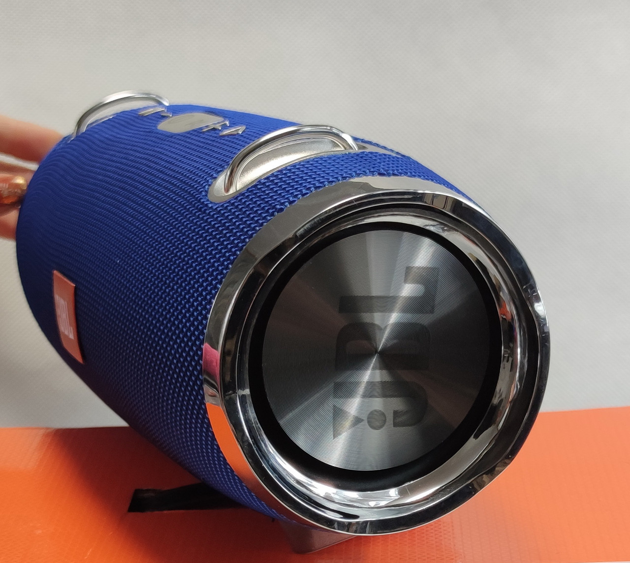 Портативная беспроводная bluetooth большая юсб колонка для музыки блютуз акустика для телефона синяя 28см.