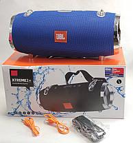 Портативная беспроводная bluetooth большая юсб колонка для музыки блютуз акустика для телефона синяя 28см., фото 2