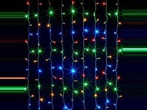 "LED Гирлянда ""Дождь"" 3м*2м, Разноцветная 200 лампочек, фото 2"