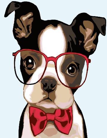 Картина по номерам Brushme Интеллигентная собачка