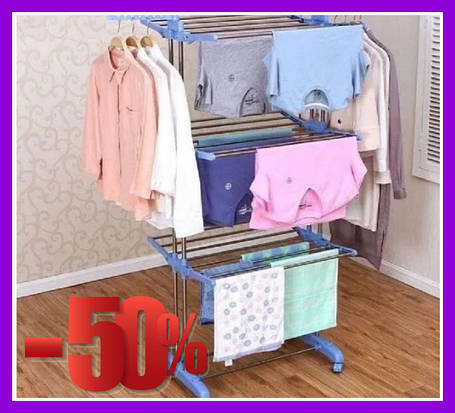 Стойка, вешалка сушилка для белья, для одежды Garment rack with wheels, фото 2